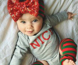 baby, cute, and christmas image