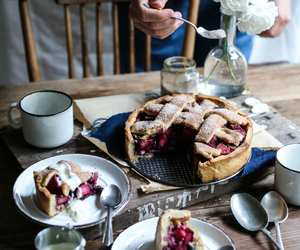 food, pie, and apple image