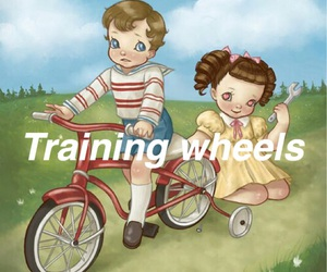 sad, tumblr, and training wheels image