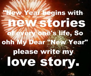 happy new year, love story, and new year image