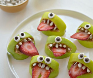 food, Halloween, and strawberry image