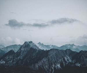 clouds and mountain image
