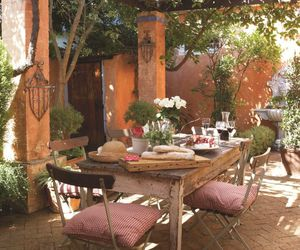 al fresco, dining table, and house image