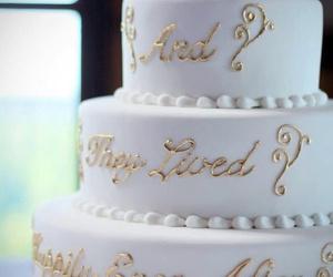 cake, childhood, and prince charming image