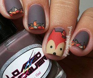 autumn, nails, and fall image