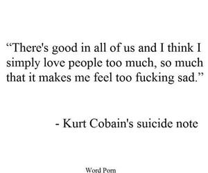 quotes, kurt cobain, and nirvana image