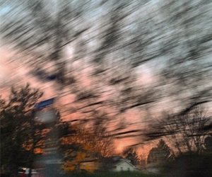 blurry, blur, and sky image