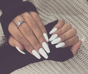 nails, white, and ring image