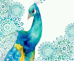 peacock, art, and painting image