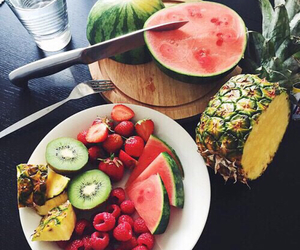 fitness, watermelon, and fruit image
