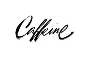 caffeine and quote image
