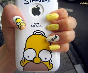 nails, simpsons, and iphone image