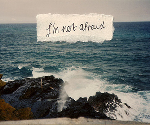 quotes, afraid, and ocean image