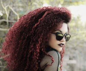 hair, curls, and red image