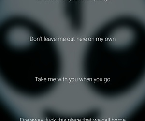 alien, Lyrics, and song image