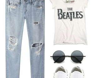 look, outfit, and the beatles image