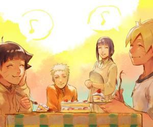 naruto, uzumaki family, and himawari image