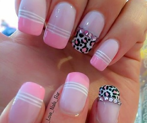 animal print, nails, and nailart image