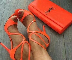 shoes, fashion, and orange image