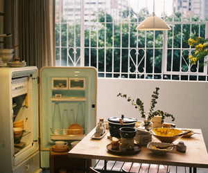 vintage, kitchen, and hipster image