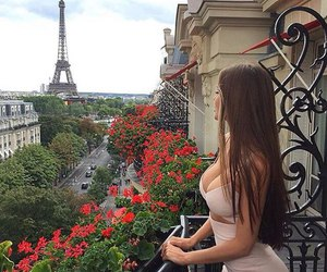 girl, paris, and dress image