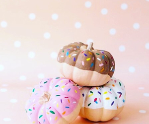 pumpkin, Halloween, and donuts image