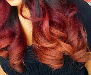 Halloween, red hair, and ombre hair image