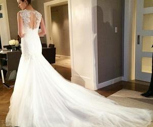 dress, long, and wedding image