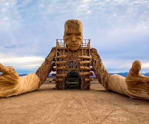 africa, Burning Man, and art image