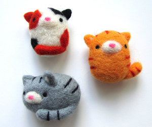 handmade, magnets, and cat lovers image