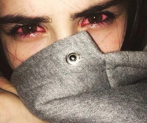 drugs, eyes, and red eyes image