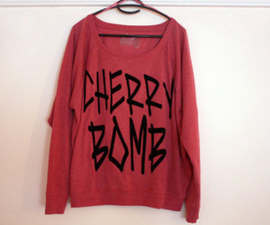 cherry bomb, fashion, and red image
