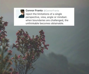quote, connor franta, and youtuber image