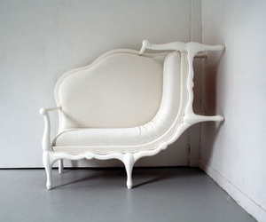 white, sofa, and furniture image