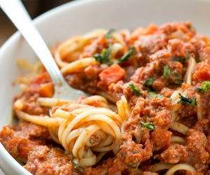 food, beef, and pasta image