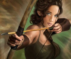 archer, bow and arrow, and the hunger games image