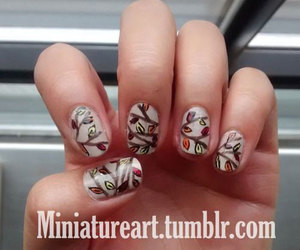 autumn nail art, autumn leaf nail art, and autumn nails ideas image