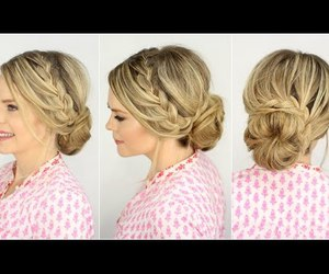 girls, hairstyles, and prom hairstyles image