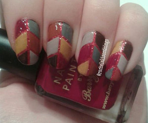 autumn nails ideas, autumn nail art, and autumn leaf nail art image