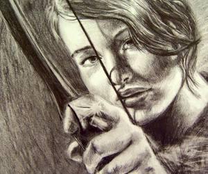 art, katniss everdeen, and beauty image