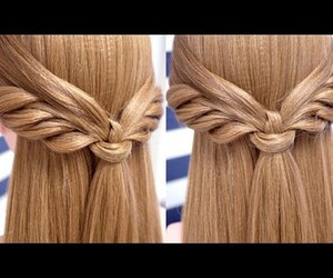 angels, tutorial, and half updo image