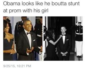 michelle obama, obama, and Prom image