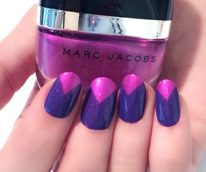 nails, marc jacobs, and pink image