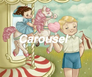 carousel, cry baby, and sad image