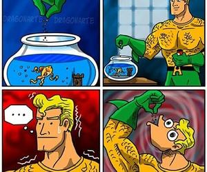 comics, funny, and aquaman image