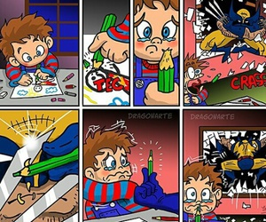 comics, funny, and wolverine image