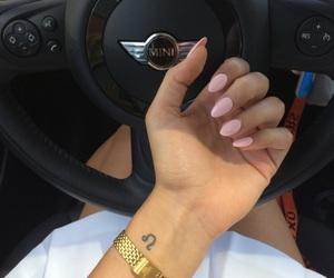nails, tattoo, and car image