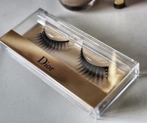 dior, makeup, and eyelashes image