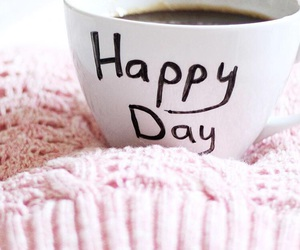 happy, coffee, and day image