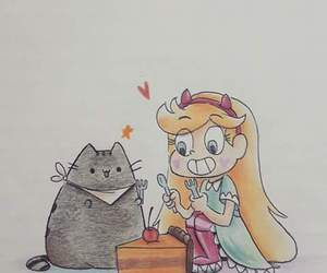 cat and star butterfly image